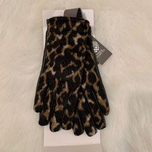 Vince Camuto Women's Animal Print Gloves